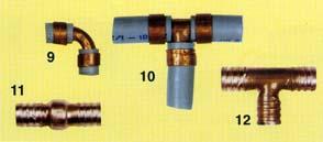Tubi acqua in polibutilene for Raccordi pex per scaldacqua